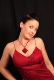 Mulher bonita no preto. imagens de stock