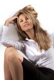 Mulher bonita no terno de negócio fotos de stock