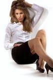 Mulher bonita no terno de negócio fotografia de stock