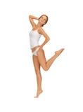 Mulher bonita no undrewear do algodão Fotos de Stock Royalty Free