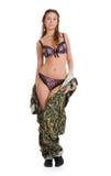 Mulher bonita no uniforme militar Foto de Stock Royalty Free