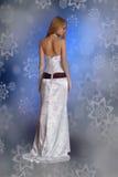 Mulher bonita no vestido Imagens de Stock
