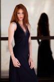 Mulher bonita no vestido extravagante Imagens de Stock Royalty Free