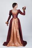 Mulher bonita no vestido medieval Foto de Stock Royalty Free