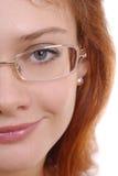 Mulher bonita nos vidros Imagem de Stock Royalty Free