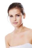 Mulher bonita nova com pele perfeita Foto de Stock Royalty Free