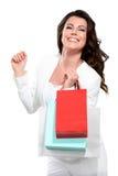 Mulher bonita nova com saco de compras Imagens de Stock