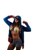 Mulher bonita nova do Latino com roupa colorida Imagens de Stock Royalty Free