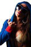 Mulher bonita nova do Latino com roupa colorida em um sutiã Fotografia de Stock Royalty Free