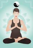 Mulher bonita nova Meditating Imagens de Stock Royalty Free