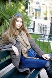 Mulher bonita nova na manhã no levantamento de Mônaco imagens de stock
