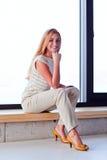 Mulher bonita nova no jérsei Imagem de Stock