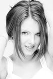 Mulher bonita nova no tiro do estúdio Imagens de Stock
