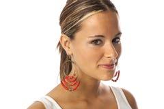 Mulher bonita nova real Imagens de Stock Royalty Free