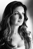 Mulher bonita - preto & branco Fotos de Stock Royalty Free