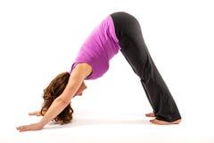 Exercício de Adho Mukha Svanasana Imagens de Stock