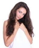 Mulher bonita - tratamento dos termas foto de stock royalty free