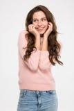Mulher bonito feliz Foto de Stock