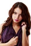 Mulher bonito, 'sexy' na roupa interior isolada no branco Imagem de Stock Royalty Free