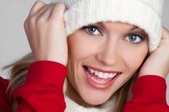 Mulher brincalhão do inverno Imagens de Stock