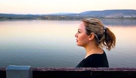 Mulher calma Imagens de Stock