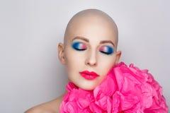 Mulher calva da beleza fotos de stock royalty free