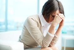 Mulher cansado Imagens de Stock
