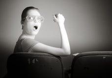Mulher caucasiano atrativa no teatro nela Imagens de Stock Royalty Free