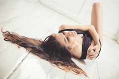 Mulher caucasiano bonita Fotos de Stock