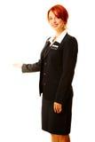 Mulher caucasiano como o trabalhador do hotel fotos de stock royalty free