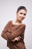 Brunette na camisola imagens de stock royalty free