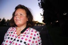Mulher cega na noite Foto de Stock Royalty Free