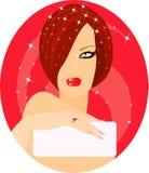 Mulher Charming ilustração do vetor