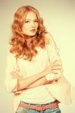 Mulher Charming Fotos de Stock