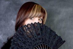 Mulher Charming com ventilador Imagem de Stock Royalty Free