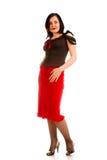 Mulher Charming na saia vermelha Fotografia de Stock