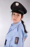 Mulher checa da polícia Fotos de Stock