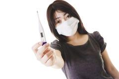 Mulher chinesa doente. fotos de stock royalty free
