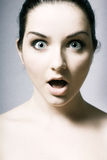 Mulher choc Imagem de Stock Royalty Free