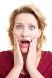 Mulher choc Imagens de Stock