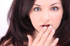 Mulher choc Foto de Stock