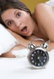 Mulher choc do alarme imagem de stock royalty free