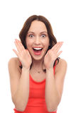 Mulher chocada Foto de Stock Royalty Free