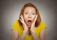 Mulher chocada Fotografia de Stock