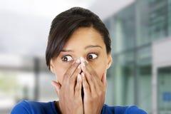Mulher chocada imagens de stock
