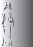 Mulher cinzenta Imagens de Stock Royalty Free