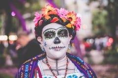 Mulher colorida do catrina Foto de Stock
