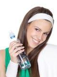 Mulher com água fotografia de stock royalty free