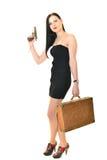 Mulher com arma Fotos de Stock