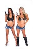 Mulher com arma Imagens de Stock Royalty Free